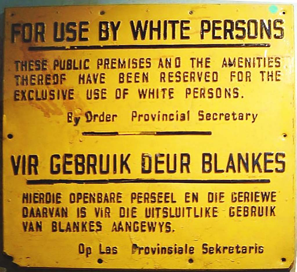 Apartheid Sign, ca. 1980