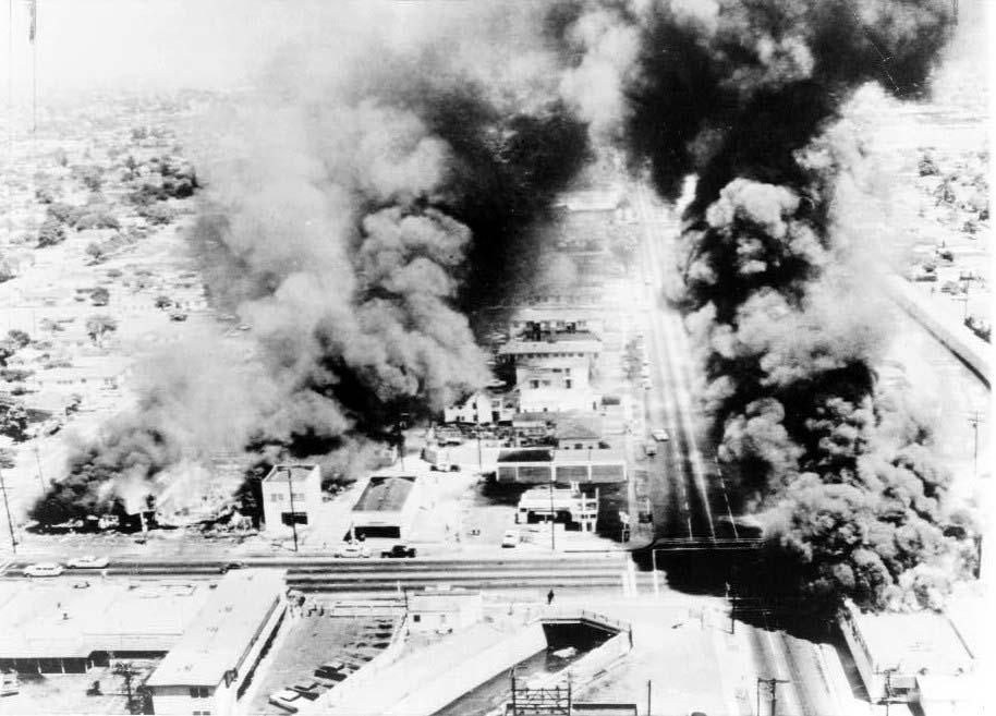 Watts Riot, 103rd Street, Los Angeles, 1966