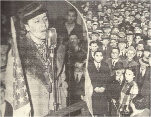 Grace Campbell Addressing a Harlem Rally