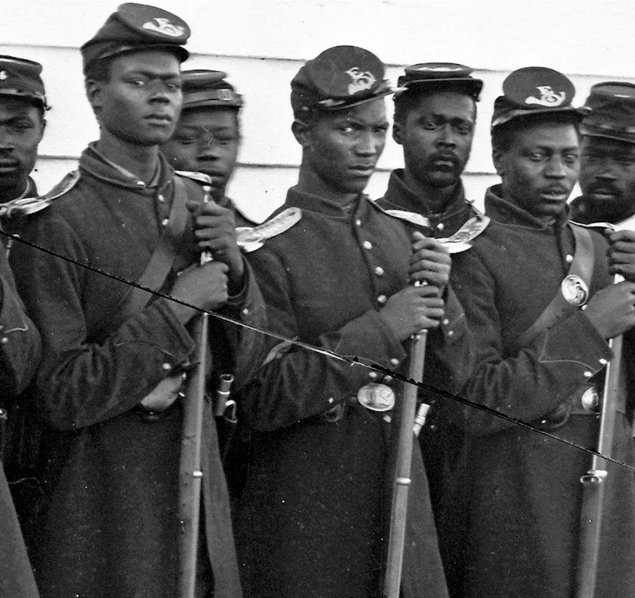Company E, 4th U.S. Colored Infantry, Fort Lincoln, ca. 1864