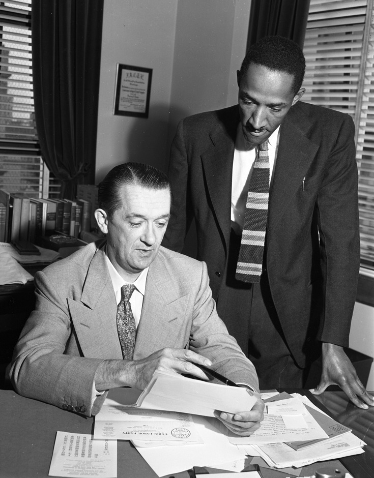 """Cecil Poole and Edmund G. """"Pat"""" Brown, 1960"""