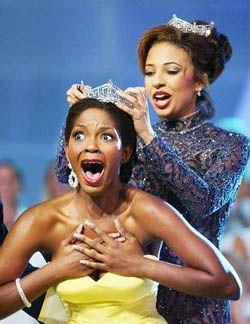 Ericka Dunlap, Miss America, 2004, Crowned by Erika Harold, Miss America, 2003