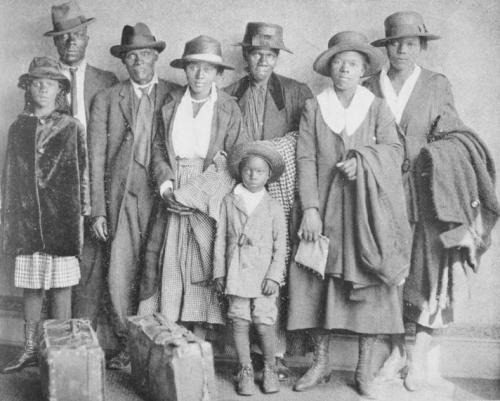 Black Family Arrives in Chicago from the South, ca. 1919