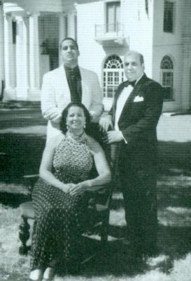 Harold and Helena Doley and Son in Front of Madam C.J. Walker Mansion