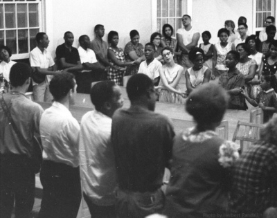 Mississippi Freedom Summer Volunteers singing We Shall Overcome, 1964