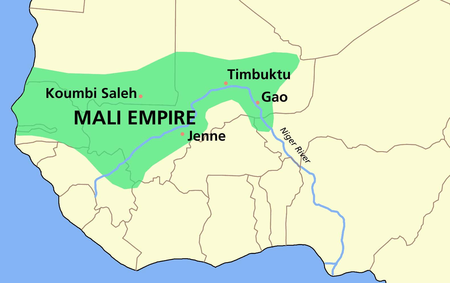 Map of the Mali Empire