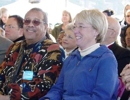 Councilmember Richard McIver with Washington Senator Patty Murray, 2008