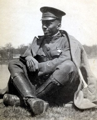 Second Lt. William J. Powell in France, 1917