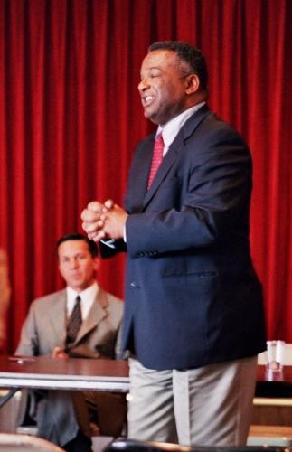 Gubernatorial Candidates Ron Sims and Dino Rossi in Debate, Tacoma, 2004