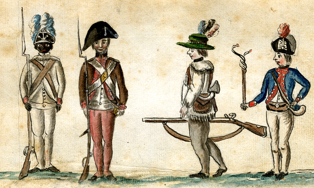 Soldiers at the siege of Yorktown, 1781
