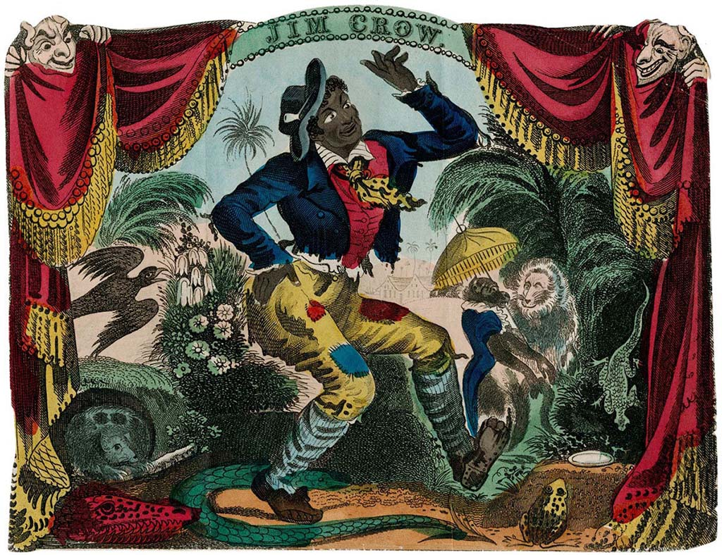 Thomas Rice playing Jim Crow in blackface, New York City, 1833