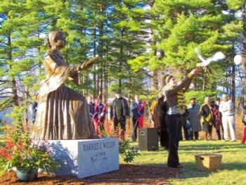 Unveiling Harriet E. Wilson Statue, Milford, New Hampshire, November 4, 2006