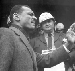 Rev. C.T. Vivian & Sheriff Jim Clark, Selma, 1965