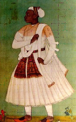 African in Golconda, India, 17th century