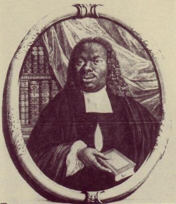 Engraving of Jacobus Capitein