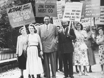 Paul Robeson & Civil Rights Congress picketing, White House, August, 1948
