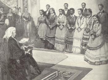 Fisk Jubilee Singers Performing before Queen Victoria of Great Britain, 1873