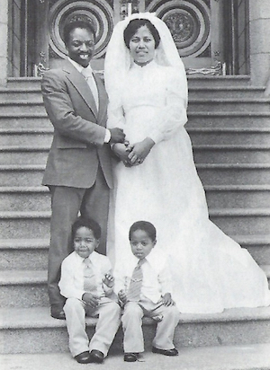 Joseph Freeman and Family on the Steps of the Salt Lake City LDS Temple, June 23, 1978 After Having Been Sealed As A Family