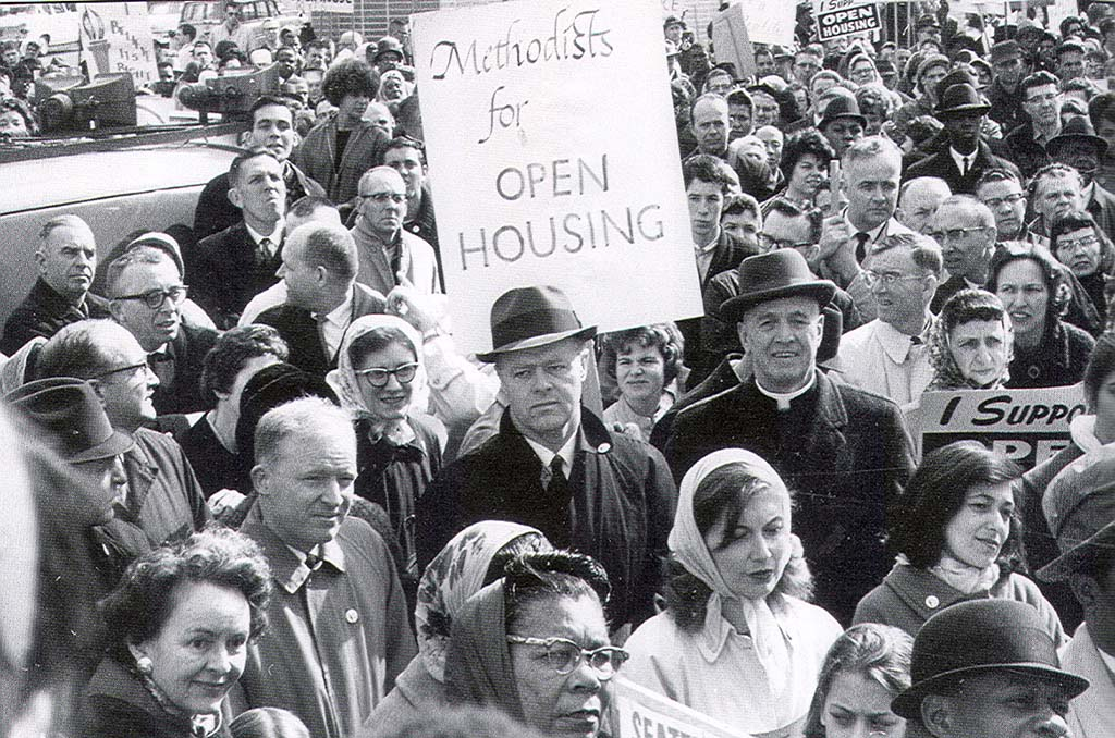 Open Housing Demonstration, Downtown Seattle, 1964