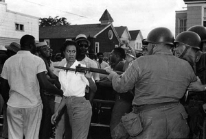 Gloria Richardson and Protestors facing National Guard Troops