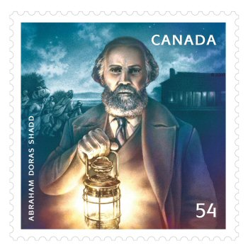 Canadian Postal Stamp of Abraham D. Shadd