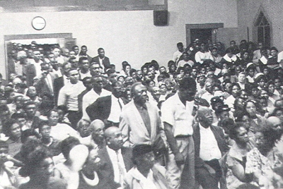 SNCC-Organized Mass Meeting on Voter Registration, Greenwood, Mississippi, April, 1963