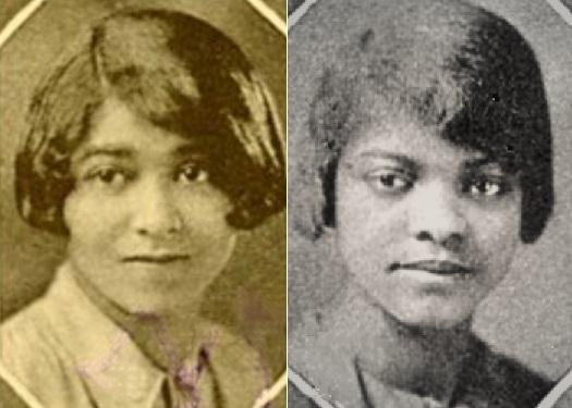 Frances Louise Hamilton (LT) and Hallie Annie Dee Williams (RT), 1927 Yearbook Photos